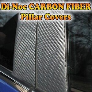 Carbon Fiber Di noc Pillar Posts For Chevy Sonic aveo 12 15 5dr Hatch 4pc Set