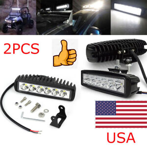 2x 18w 12v Led Work Light Bar Spot Light For Driving Lamp Offroad Car Truck Suv