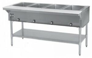 4 Well All Stainless Steel 120v Electric Steam Table