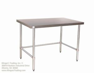30 X 96 Open Base All Stainless Steel Work Table