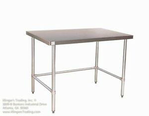 18 X 96 Open Base All Stainless Steel Work Table