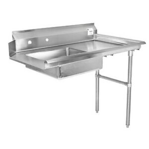 72 All Stainless Steel Soiled Dish Table On Right
