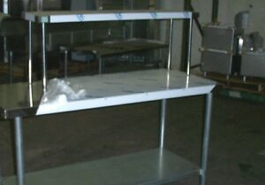 12 x48 Stainless Steel Single Tier Over Shelf