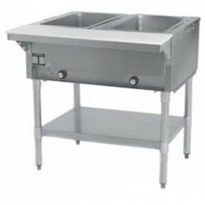 2 Well All Stainless Steel Electric Steam Table