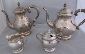 Sterling Silver 925 Coffee Tea Set 4 Piece Set Pre Owned But Never Used