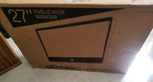 Clinton Electronics Ce m27a b pir 27 Ip Public View Monitor With Axis Camera