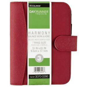 Day Runner Harmony Organizer Holds Refills 3 3 4 X 6 3 4 Inches Assorted Co