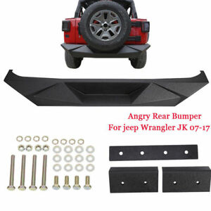 New Rear Bumper Fit For 2007 2018 Jeep Wrangler Jk Steel Carbon Rubicon Sahara