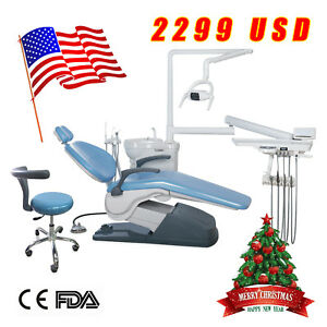 Usa Dental Chair Stool Unit Computer Control 110v Ship To Your Door Blue