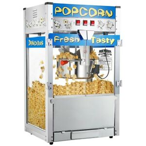 Movie Theater Popcorn Machine Hot Oil Countertop Pop Commercial Industrial 12 Oz