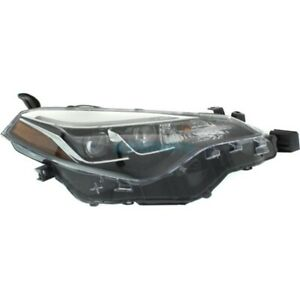 New Right Side Headlamp Assembly Fits 2017 18 Toyota Corolla To2503250