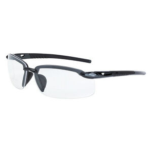 Crossfire Es5 Reader Diopter 1 5x Bifocal Gray Clear Lens Safety Glasses 296415
