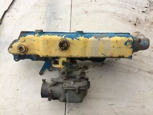 Ford 3000 3400 2000 Gas Tractor Intake Manifold And Carburetor 3cyl 3600