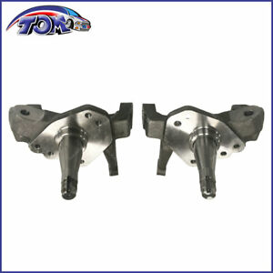 Forged Steel 1 Piece 2 Drop Spindles Pair For 74 78 Ford Mustang Ii Pinto V6 V8
