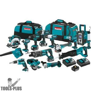 Makita Xt1501 18 volt 3 0ah 15pc Lithium ion Power Tool Cordless Combo Kit New
