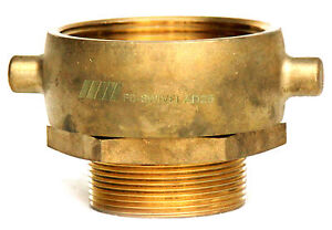 2 1 2 Nst nh Female Swivel X 2 Male Npt Fire Hose Hydrant Adapter Snoot