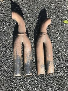 Vintage Dual Exhaust Pipe Tips Price Is For The Pair