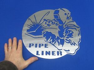 Pipe Liner Steel Sign Fits Doors Lincoln Welder Sa 200 250 Sae 300 400 Man Cave