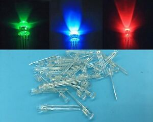 1000 Pcs 5mm 4 pin Rgb Tri color Common Anode Led Light Red Green Blue