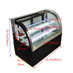Commercial 220v Refrigerated Bakery Showcase 35 4inch Cake Display Cabinet Case