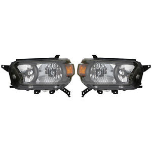 Fits 2010 2013 Toyota 4runner Pair Head Lights Driver And Rh