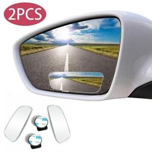 Blind Spot Mirror 2x Rimless Hd Glass Wide Angle 360 Convex Mirrors Rear View