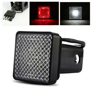 Led Trailer Towing Hitch Cover Running Brake Reverse Light Lamp For 2 Receiver