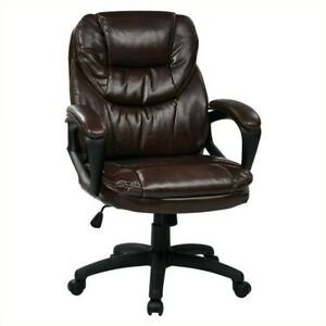 Scranton Co Faux Leather Managers Office Chair In Chocolate
