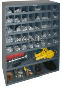 Metal Storage 44 Bins Steel Cabinet Parts Nuts Bolts Fasteners Screws