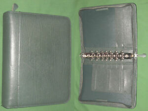 Classic 1 5 Green Verona Leather Franklin Covey Planner Binder Organizer 4330