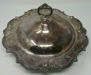 1 5 Qt Round Covered Casserole Strasbourg Silverplate Hollowware Gorham Silver