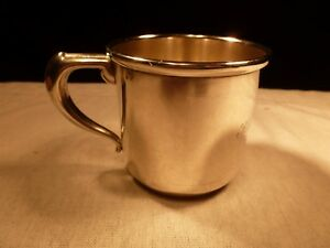 Vintage Heavy Manchester Silver Sterling Silver Classic Baby Cup Made In Usa