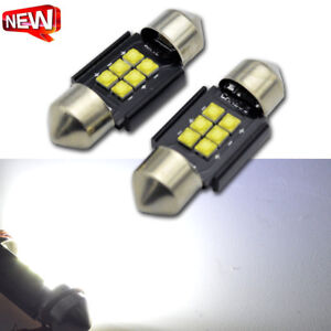 10x Festoon 31mm Canbus Error Free Cree Led Car Dome Map Light Ac 12v 24v 600lm