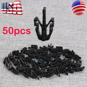 50 Pcs For Chevy Gmc Colorado Canyon Grille Retainer Clips 2004 12 Black Plastic