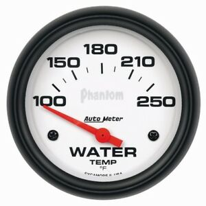 Auto Meter Phantom 66mm 100 250 Deg F Short Sweep Electonic Water Temp Gauge