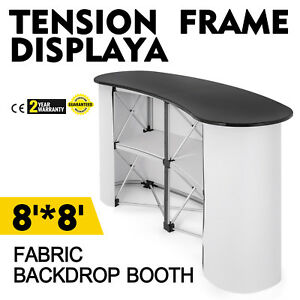 Pop Up Trade Show Display Counter Table Podium W Carry Bag Portable Stable