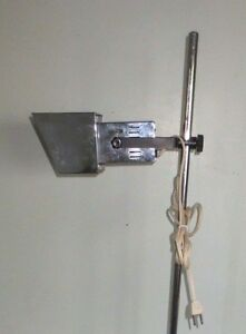 Vintage Retro Mid Century Streamline Era Chrome Shade Floor Lamp Nice