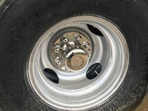 Going Fast Hub Center Cap Cover Stainless Steel Dually Trailer Chevy Ford Dodge