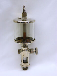 Antique Lonergan Corliss Steam Gas Hit Miss Engine Oiler Lubricator W Base