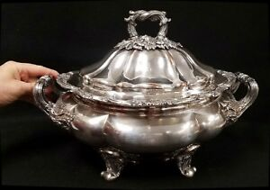 Antique English Sheffield Silverplate Armorial Tureen By Matthew Boulton