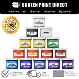 Ecotex Water Based Discharge Ink Screen Printing Ink Kit 14 Colors
