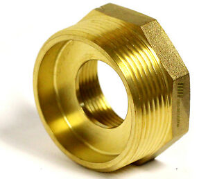 Nni Fire Hose Hydrant Hexagon Bushing Adapter 1 1 2 Nst f X 2 1 2 Nst m
