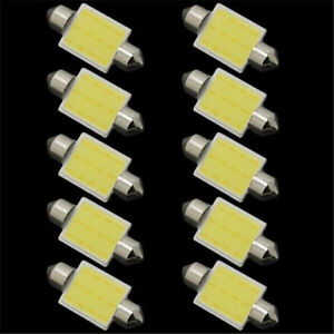 10 X 41mm Festoon Bulb 24v C5w 12led Cob Bulb Car Interior Light Boat Stop Lamps