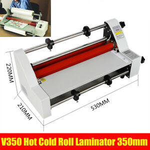 Four Rollers Hot And Cold Roll Laminating Machine 13 Laminator 110v New