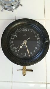 Vintage U S Navy Clock Made By Seth Thomas Working Condition