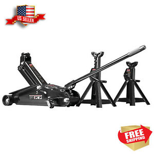 Craftsman 2 1 4 Ton Hydraulic Auto Car Tool Floor Jack Set W 2 Jack Stands New