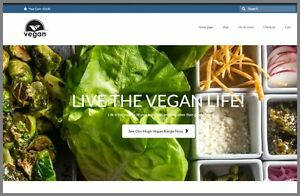 Fully Stocked Vegan Foods Website Business free Domain hosting traffic