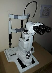 Slit Lamp Microscope Zeiss Type 2 Step Complete With Wooden Table