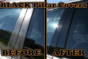 Black Pillar Posts Fit Cadillac Escalade 07 14 4pc Set Door Cover Trim Piano Kit