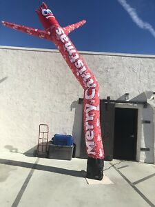 Ugly Sweater Red 20ft Air Dancer Sky Inflatable Tube Puppet For 18 blower